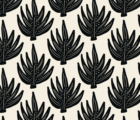 Boho Palm fabric by stacey-day on Spoonflower - custom fabric