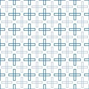 Square Crosses in Blue