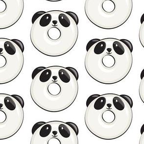 panda donuts - cute panda (white)