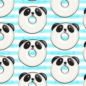 panda donuts - cute panda (blue stripe)