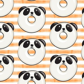 panda donuts - cute panda (orange stripe)