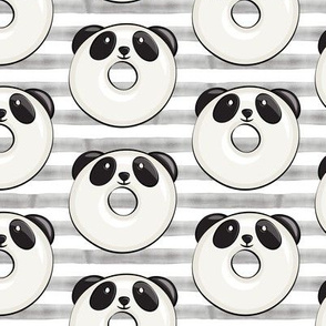 panda donuts - cute panda (grey stripe)
