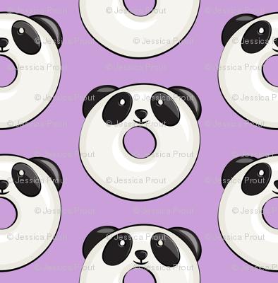 panda donuts - cute panda (purple)