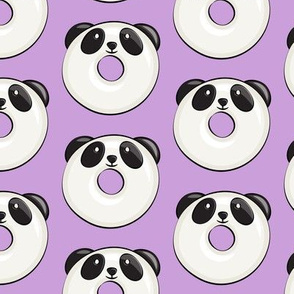 panda donuts - cute panda (purple)