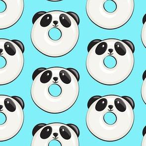 panda donuts - cute panda (blue)
