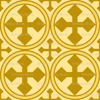 Circle Cross in Gold