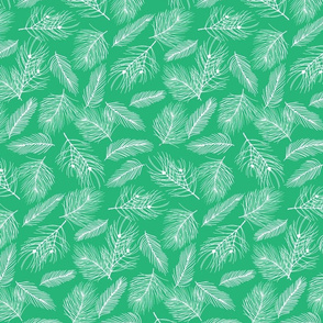 Pine-Pattern-Outlnes-White-Bright Green