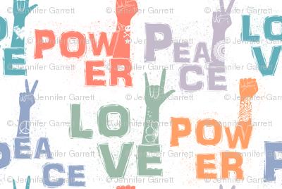 Peace Love Power Tattoos