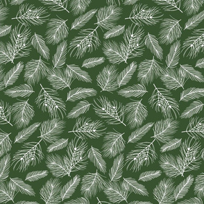 Pine-Pattern-Outlnes-White-Forest Green