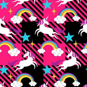Unicorn & Rainbow Plaid