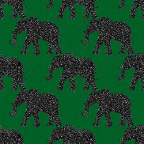 Elephants on Green fabric by vo_aka_virginiao on Spoonflower - custom fabric