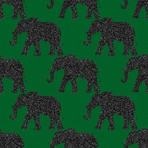 Elephants on Green
