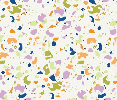 Terrazzo  Light fabric by nellik on Spoonflower - custom fabric