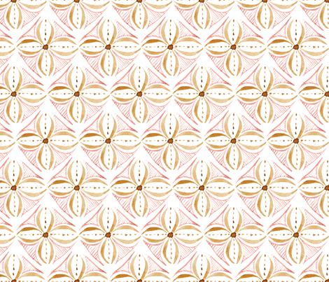 Watercolor Tile - Rose Gold - Large Scale fabric by byre_wilde on Spoonflower - custom fabric