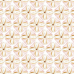 Watercolor Tile - Rose Gold - Large Scale