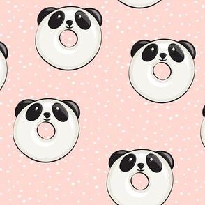 panda donuts - cute panda (peach spots)