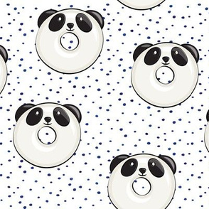 panda donuts - cute panda (blue spots)