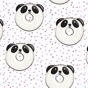 panda donuts - cute panda (pink spots)