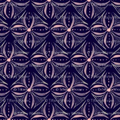 Watercolor Tile - Dark - Small Scale
