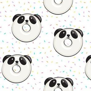 panda donuts - cute panda (multi sprinkles)