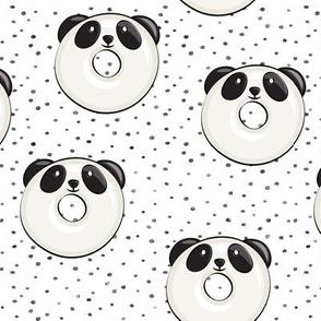 panda donuts - cute panda (grey spots)