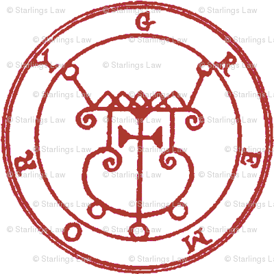 Seal of Gremory dark red on white