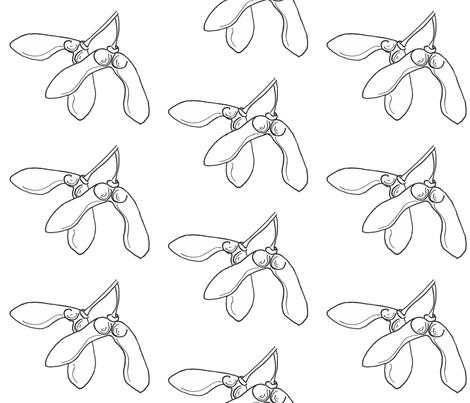 Maple Seed Showers fabric by wingswormsandwonder on Spoonflower - custom fabric