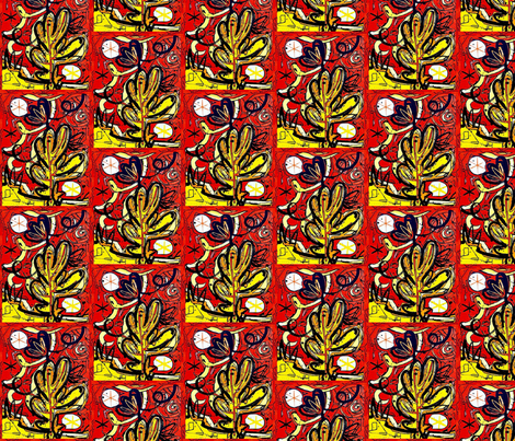 Saguaro by Cattaneo Small Scale fabric by cedar_creek_studio on Spoonflower - custom fabric