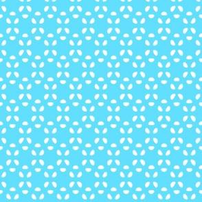 Bean Dots   -EC Winter Sky Blue & EC Cloud