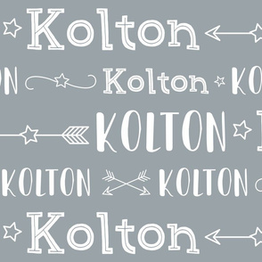 Boys Personalized Name - Stars and Arrows