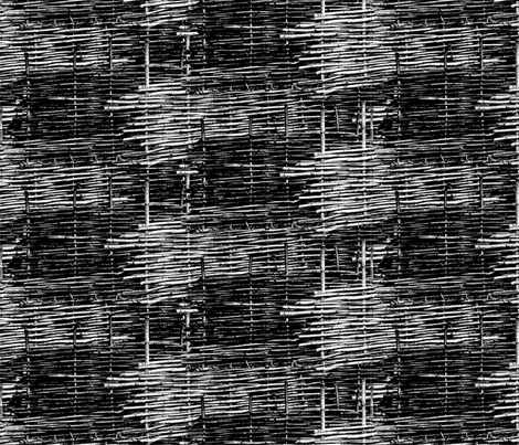 Black and White Woven Fence fabric by bloomingwyldeiris on Spoonflower - custom fabric