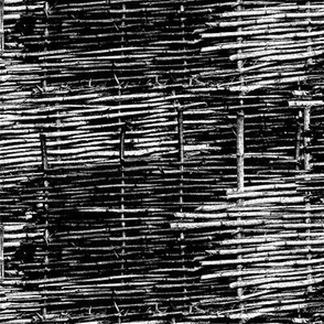 Black and White Woven Fence