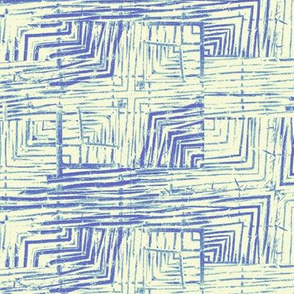 Deconstructed Marks in Blue and Green