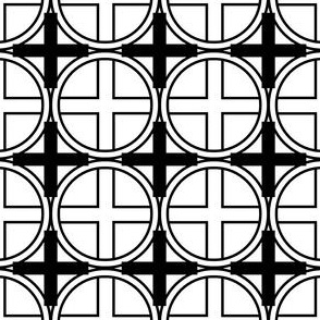 Circle Cross in Black