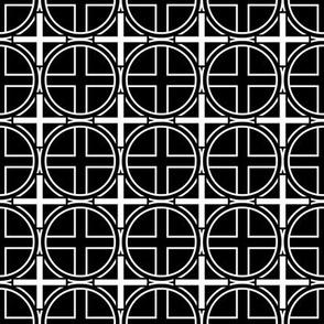 Circle Cross on Black