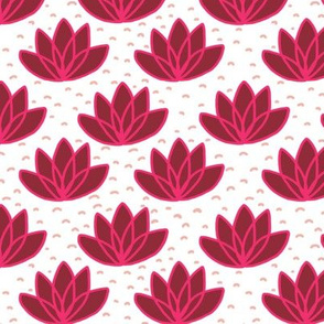 Mod flamingo lotus flowers