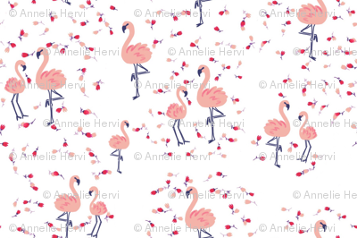 Flamingo dance romance