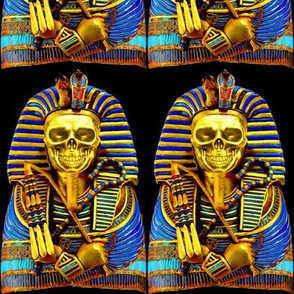 6 ancient egypt egyptian king tut Tutankhamun pharaoh gold mummy death masks cobra snakes crown vulture serpent coffin shepherd's skulls skeletons Crook flail Nekhbet Wadjet Uraeus funerary funeral