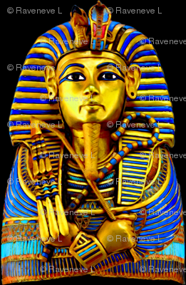 3 ancient egypt egyptian king tut Tutankhamun pharaoh gold mummy death masks cobra snakes crown vulture serpent coffin shepherd's Crook flail Nekhbet Wadjet Uraeus funerary funeral