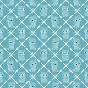OwlsRetroCrossPattern_WarmBlue