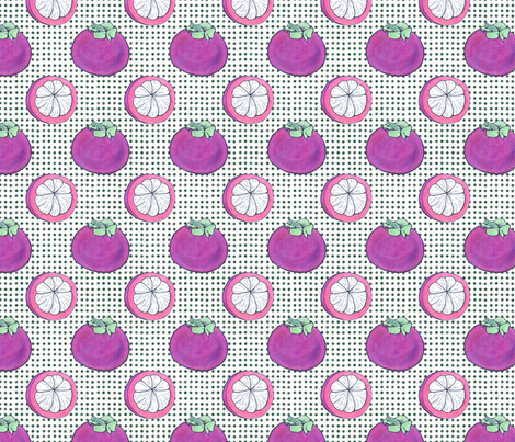 mangosteen fabric by runlenarun on Spoonflower - custom fabric