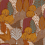 Wooded Mountain - Fall