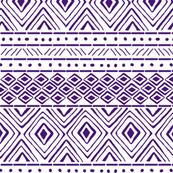 Tribal Mud Cloth No. 2 // Purple