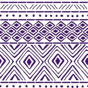Ornate Purple Mud Cloth // Small