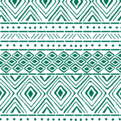 Tribal Mud Cloth No. 2 // Teal