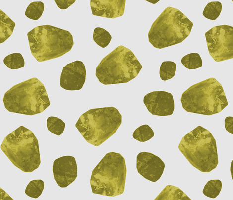 big saffron stone shapes fabric by variable on Spoonflower - custom fabric