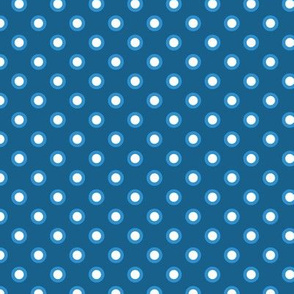 white dots on blue