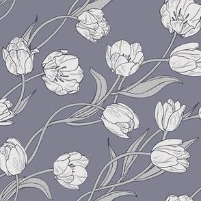 tulips gray