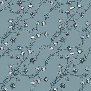 Green Flax . Floral pattern