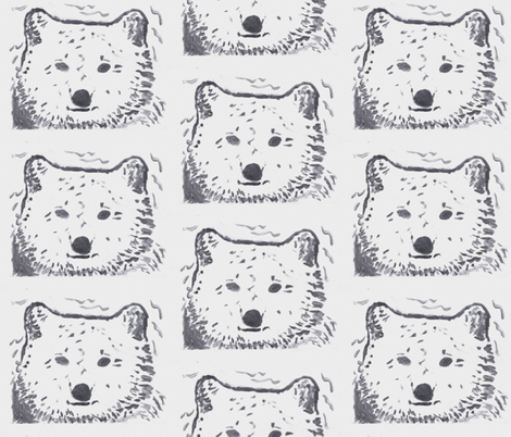 Winter Bear fabric by hot_office on Spoonflower - custom fabric